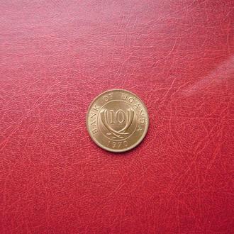 Уганда 10 центов 1970 Редкий год