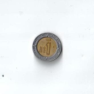 1 песо Мексика 1994 год