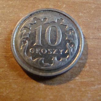 Польша 10  грошей  2013