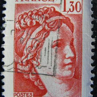 """Марка Франция, 1,30, 1979 """"Sabine"""" - New Values"""