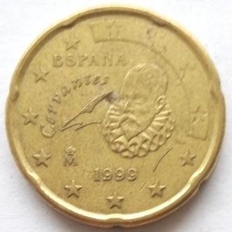 Испания 20 евро центов 1999