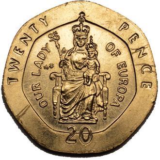 Гібралтар 20 pence 1988   #385