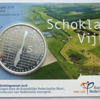 Нидерланды 5 Евро 2018 *Остров Схокланд*