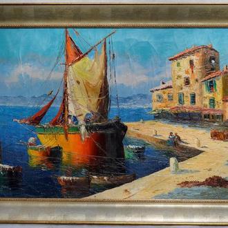 Rilly ,,Морской порт,, холст, масло