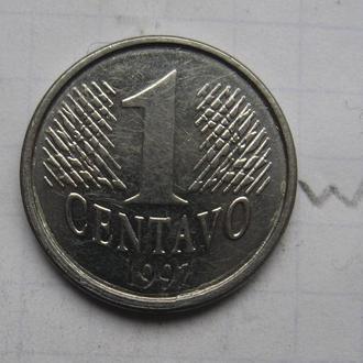 БРАЗИЛИЯ 1 сентаво 1997 г.