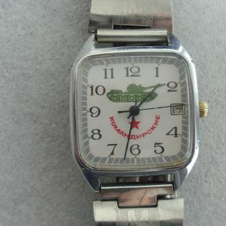 Часы Ракета Командирские Танк Танкист СССР Рабочие + браслет
