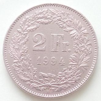 (А) Швейцария 2 франка 1994