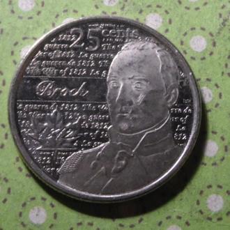 Канада 2012 год монета 25 центов квотер !