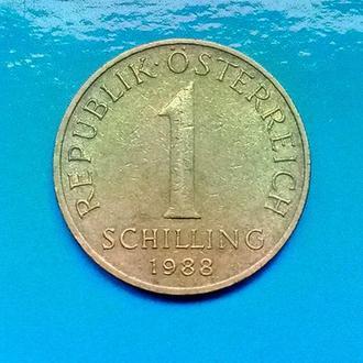 Австрия. 1 шиллинг 1988 г.