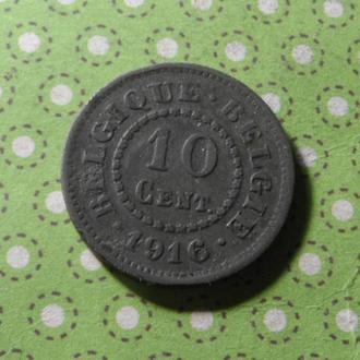 Бельгия 1916 год монета 10 сентимов !