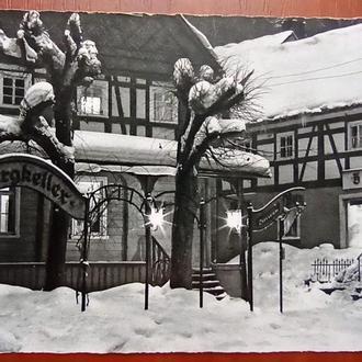 Открытка- Германия поздравительная открытка 1966 год