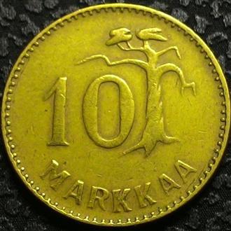 Финляндия 10 марок 1953 год