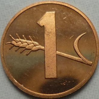 Швейцария 1 раппен 1981 состояние в коллекцию