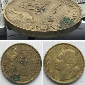 Франция 50 франков, 1952г. Без отметки монетного двора / Период Четвертая Республика (1944 - 1959)
