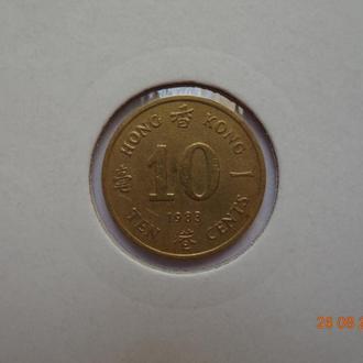 Британский Гонконг 10 центов 1983 Elizabeth II состояние