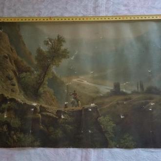 Картина репродукция на ткани двухсторонняя