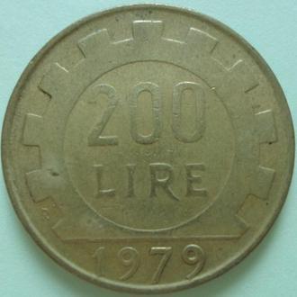 Италия 200 лир, 1979