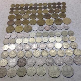 Набор монет СССР с 1921 по 1991 без повторов