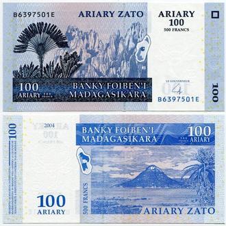 Мадагаскар 100 ариари 2004 год UNC Пресс