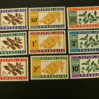 м8 Руанда 1963 Кофе Бананы Перец**