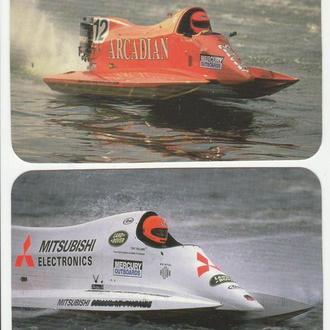 Календарики 1997 Формула-1, водно-моторный спорт