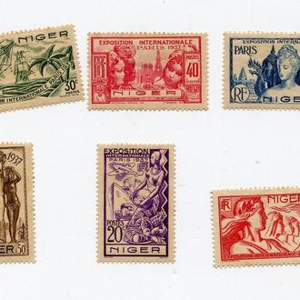 НИГЕР 1937 * КОЛОНИИ ФРАНЦИЯ ФЛОТ АВИАЦИЯ ПАРУСНИК