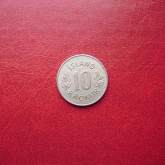Исландия 10 крон 1967