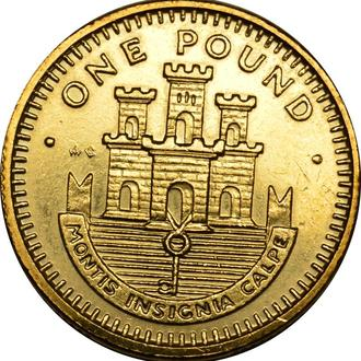 Гібралтар 1 pound 1991   #387