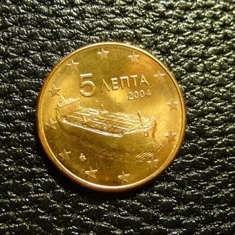 5 євроцентів 2004 Греція рідкісна UNC