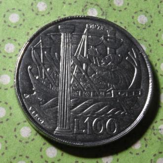 Сан-Марино 1973 год монета 100 лир !