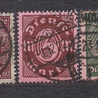Бавария, немецкие земли, 1921-22 гг., служебные марки