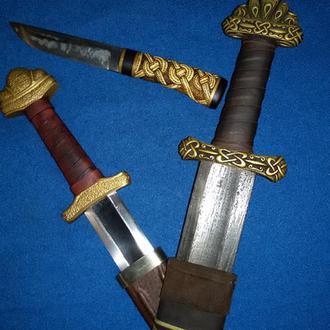 Нож по скандинавским мотивам