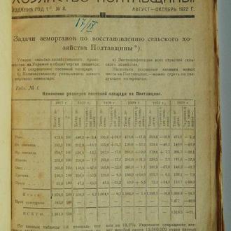 Хозяйство Полтавщины. №8. 1922