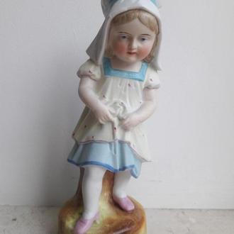 Девочка старый Dresden Полихромный бисквит