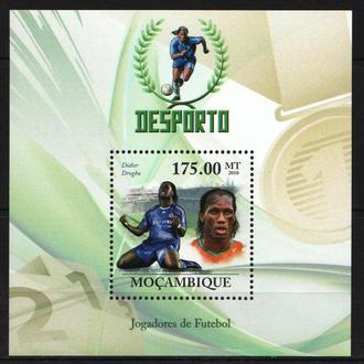 Мозамбик 2010 ** Футбол Звёзды Дидье Дрогба Кот-д'Ивуар Челси МЛ MNH