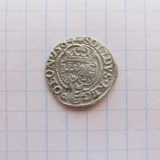 Солид, шеляг Стефана Батория 1584 год.