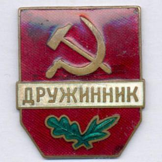 Знак МВД Дружинник Винт.