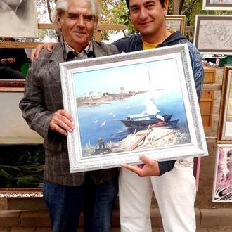 """Картина """"Шаланда"""" написана маслом оригинал. Работа художника из Одессы"""
