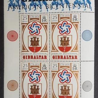 Гибралтар 1977 200-летие независимости США Михель = 6 евро**