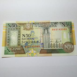50 шилин, Сомали, 1991 unc, пресс