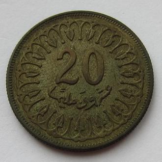 Тунис 20 миллим 1983 (KM#307)