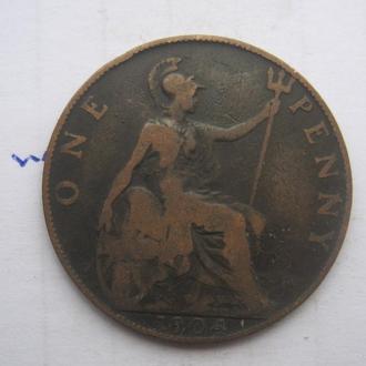 ВЕЛИКОБРИТАНИЯ, 1 пенни 1904 года (ЭДУАРД 7-й).