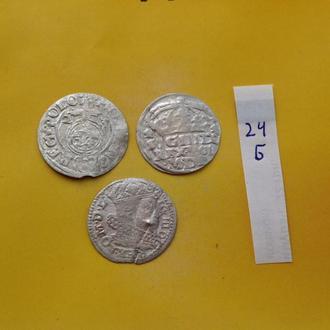 3 серебрянные средневековые монеты