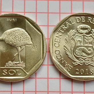 Перу 1 соль, 2018 страус Дарвинов нанду