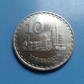 МОЗАМБИК, 10 МЕТИКАЛ, 1980 г.