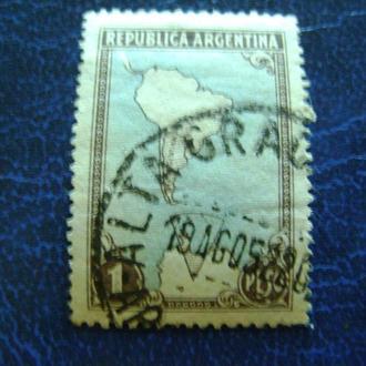 Аргентина. Карта.