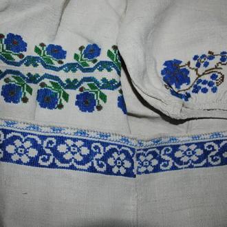 Сорочка вишиванка не велика жіноча старовинна на конопляному полотні ... b6114532d2437