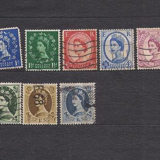 Великобритания, 1952 г., стандартный выпуск, королева Елизавета 2