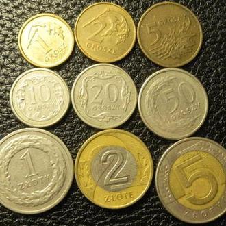 Комплект обігових монет Польщі