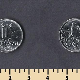 Бразилия 10 сентаво 1989-1990